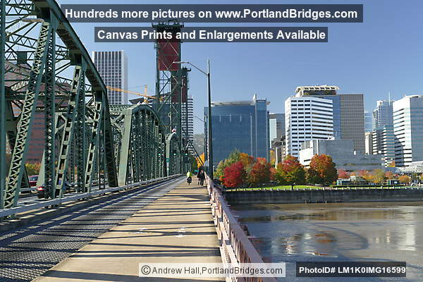 Walking Across Hawthorne Bridge West (Portland, Oregon)