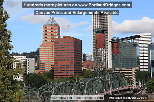 Portland Buildings, Hawthorne Bridge, from I-5