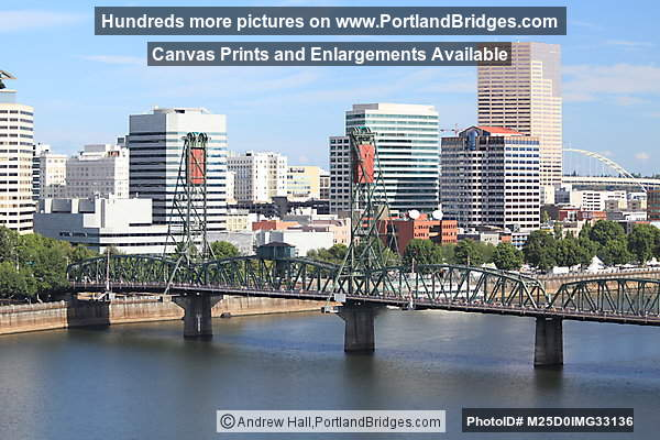 Hawthorne Bridge viewed from Marquam Bridge (Portland, Oregon)