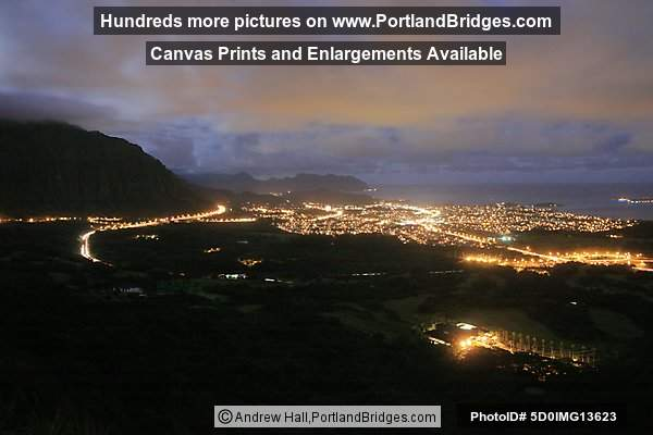 Oahu, Hawaii:  Pali Lookout, Daybreak