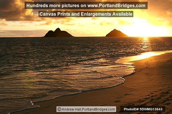 Oahu, Hawaii:  Lanikai Beach, Sunrise
