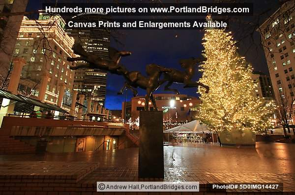 Pioneer Courthouse Square, Christmas Tree, Portland, Oregon