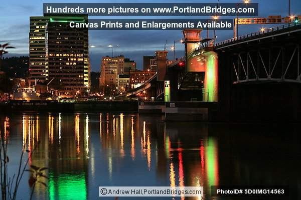 Morrison Bridge, Lights, Portland, Oregon