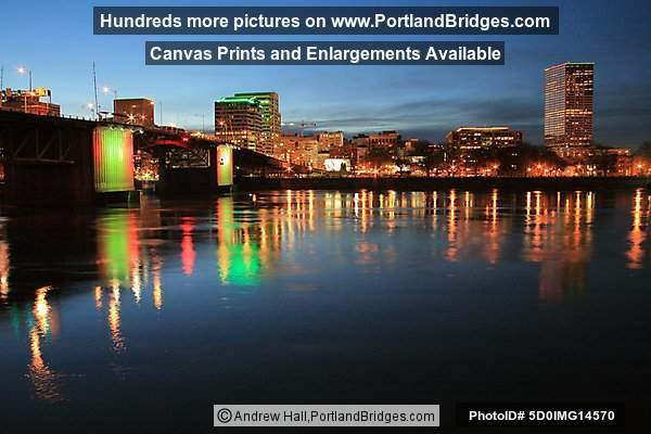 Morrison Bridge, Lights, US Bancorp Tower, Portland, Oregon