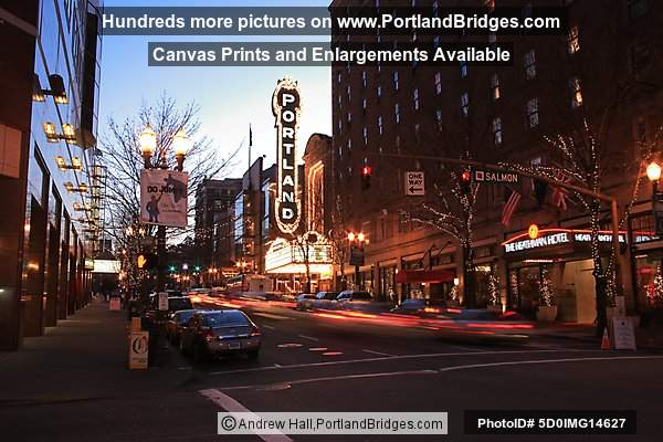 Portland Sign, Broadway, Schnitzer Concert Hall