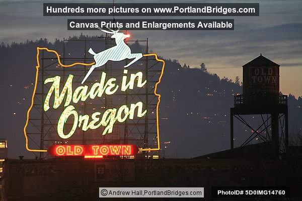 Former Made in Oregon Sign, Best Portland Pictures