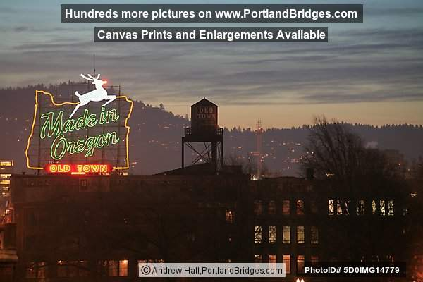 Former Made in Oregon Sign, 2006 (Portland, Oregon)