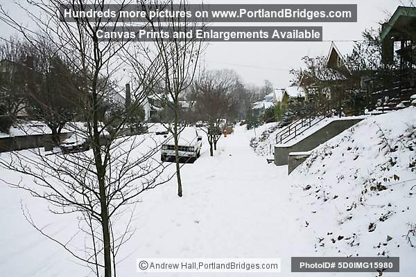 Portland Snow, Eliot Neighborhood, Northeast Portland