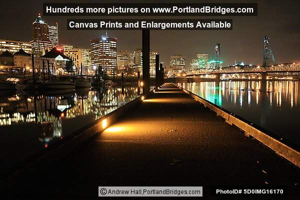 Portland Riverplace Bridges Dusk