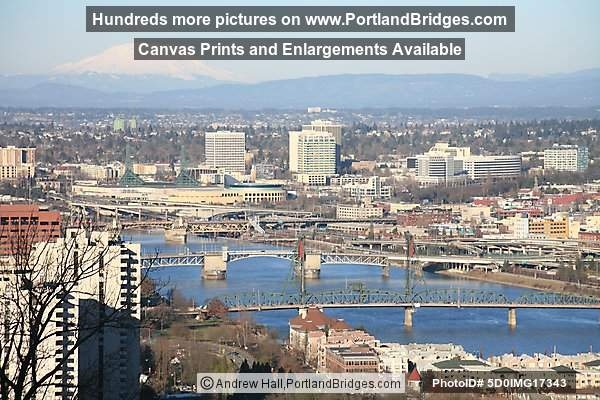 Portland Riverfront and Mt. Saint Helens