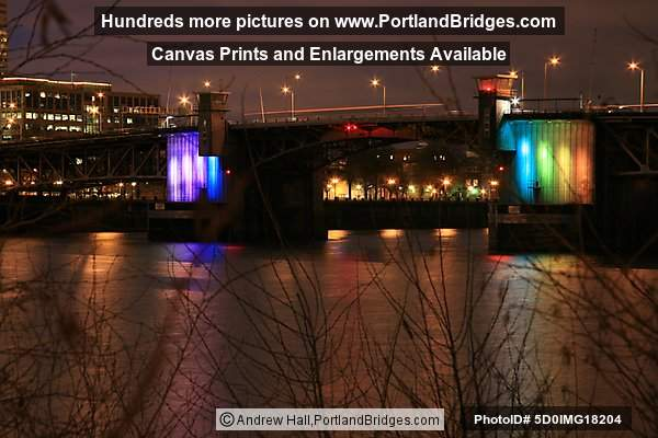 Portland Morrison Bridge Lighting (Photo, PortlandBridges.