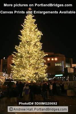Portland Christmas Tree Lighting, 2007, Pioneer Courthouse Square