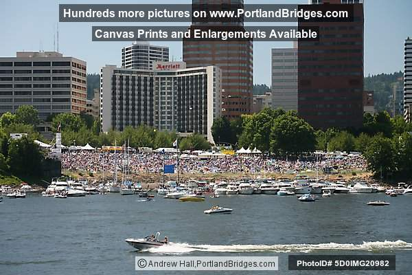 Waterfront Blues Festival, Portland Buildings, July 4 2007
