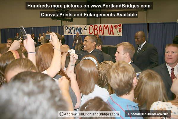 Barack Obama Rally, Portland, Oregon, September 2007, Convention Center