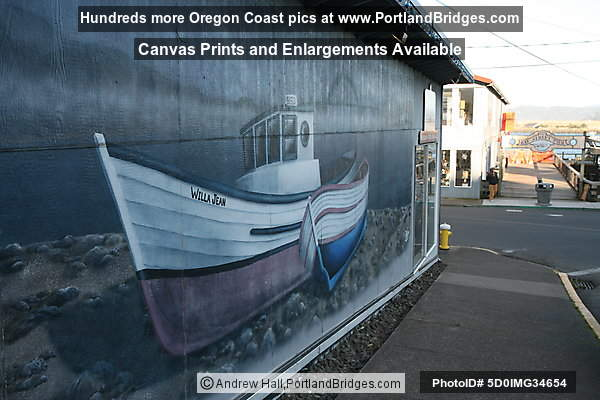 Willa Jean Mural, Bayfront, Newport, Oregon