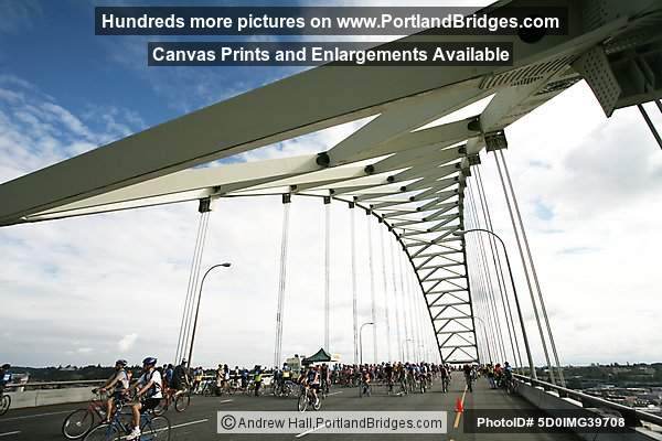 Fremont Bridge during Bridge Pedal (Portland, Oregon)