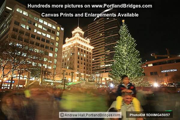 Portland Pioneer Courthouse Square Christmas Tree Lighting 2008