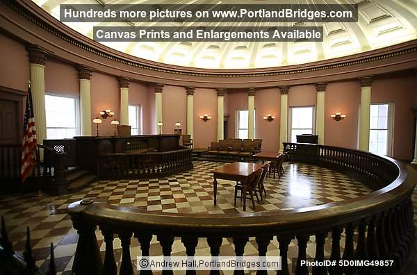 Inside Saint Louis Old Courthouse, Courtroom