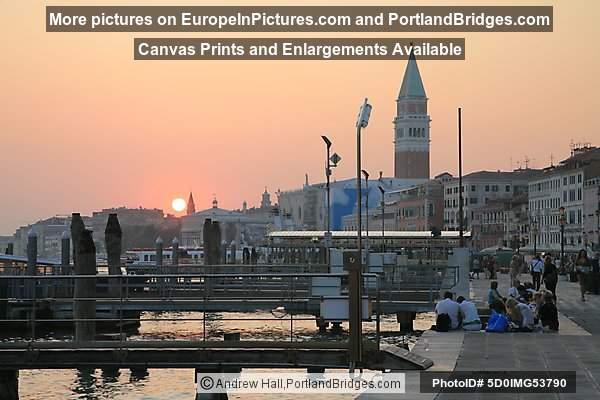 San Marco, Campanile, Sunset, Venice