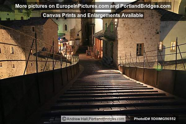 Stari Most, Steps, Night
