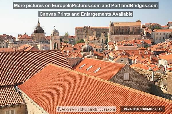 Dubrovnik, Croatia: Red Roof Tiles