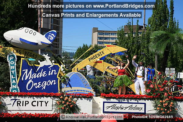 Rose Festival Grand Floral Parade 2010: Alaska Airlines/Horizon Air Float (Portland, OR)