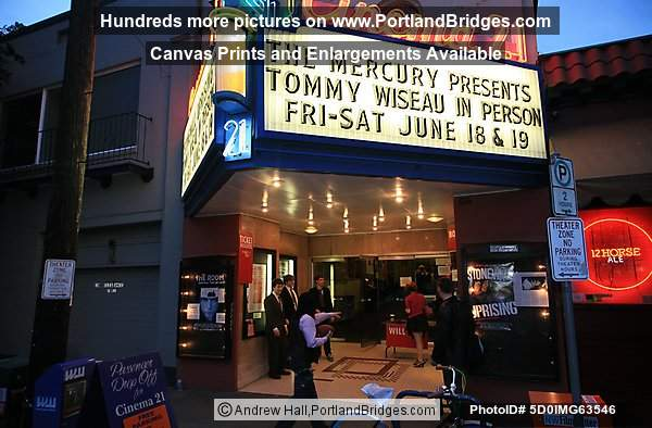 Tommy Wiseau at Cinema 21 in Portland, Oregon, for a screening of