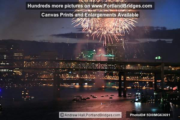 Portland Waterfront Fireworks, July 4, 2010