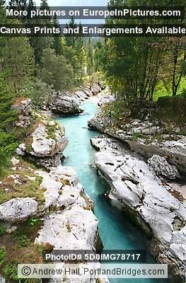 Soca River, Rocks, Slovenia