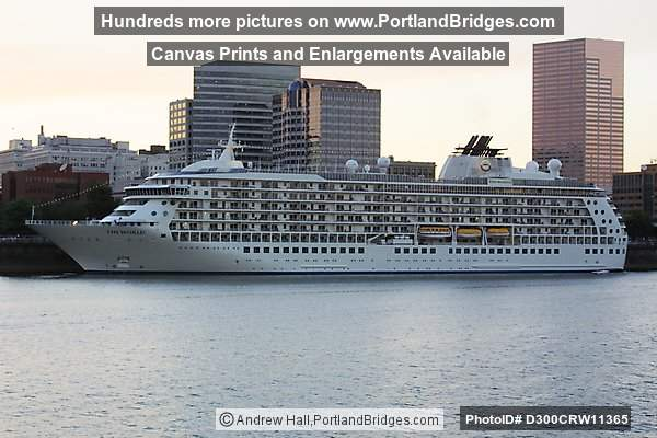 The World Cruise Ship, docked on Willamette River, Portland, Oregon