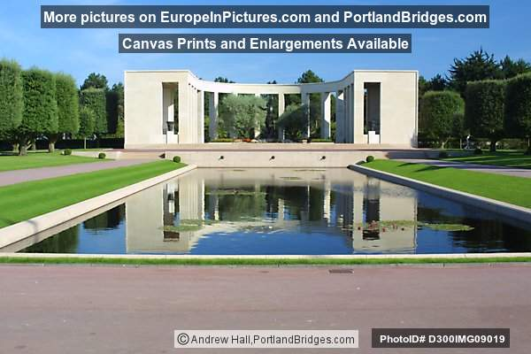 Reflecting Pool, Memorial, American Cemetery, Normandy, France