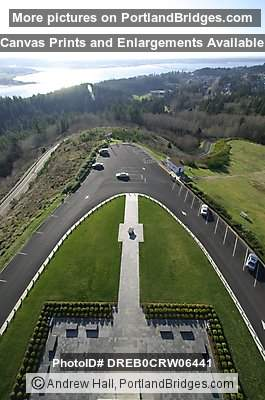 Looking Down From Astoria Column, Oregon
