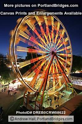 Ferris Wheel Spinning, Dusk, Rose Festival 2005 (Portland, Oregon)