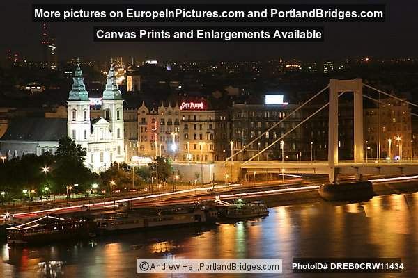 Elizabeth Bridge at Night, Budapest