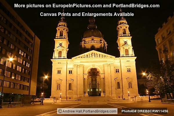 St. Stephens Basilica at Night, Budapest