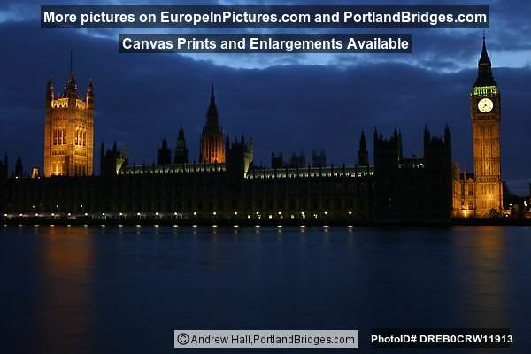 Big Ben and Parliament at Dusk, London