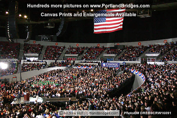 Barack Obama at Portland, Oregon Memorial Coliseum, March 21, 2008