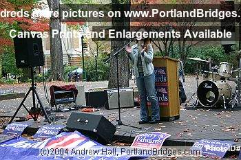 Alyssa Milano GOTV rally (Portland, Oregon)