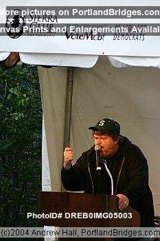 Michael Moore Rally for John Kerry, Portland State University, 2004