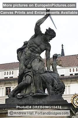 Prague Castle Entrance, Statue