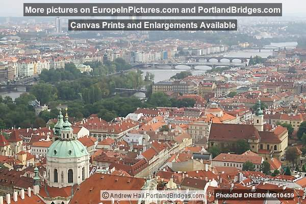 Prague City View from Castle