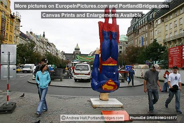 Prague Wenceslas Square, Superman Statue