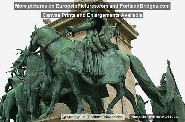 Statues, Heros Square, Budapest