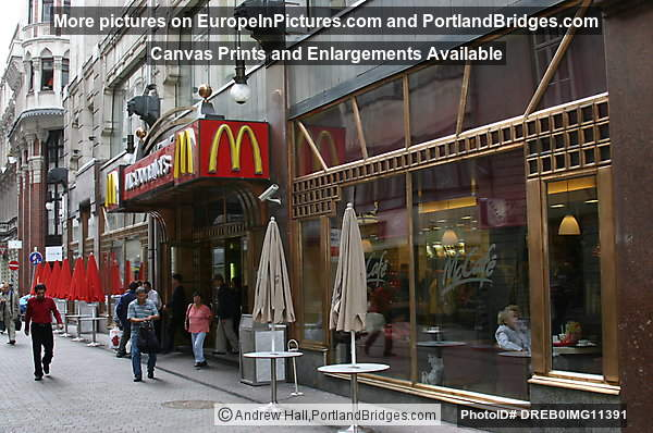 Budapest First McDonalds in Eastern Bloc, off Vaci Ut