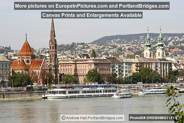 Budapest River View of Buda