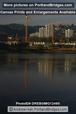 Willamette River, The Strand Initial Construction, Riverplace (Portland, Oregon)