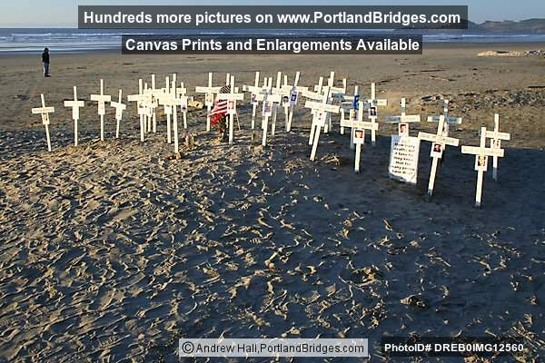 Memorial to Iraq War Dead, Newport, Oregon, Nye Beach (Portland, Oregon)