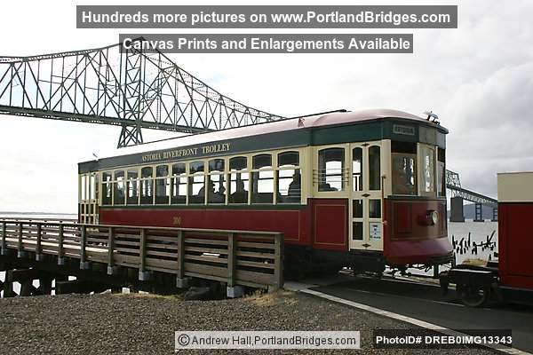 Astoria, Oregon Trolley with Astoria-Megler Bridge