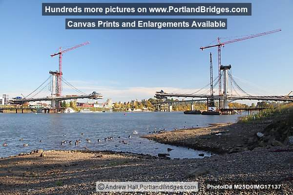 Tilikum Crossing (Transit and Pedestrian Bridge), Under Construction, 2013 (Portland, Oregon)