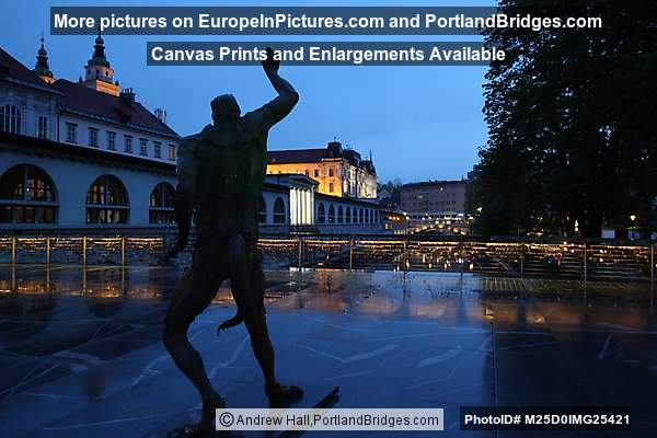 Statue on Butchers Bridge, Dusk